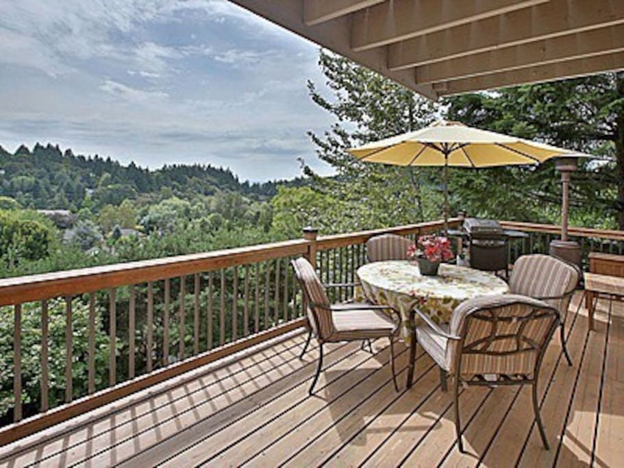 Enjoy summer BBQs on deck looking out over territorial views