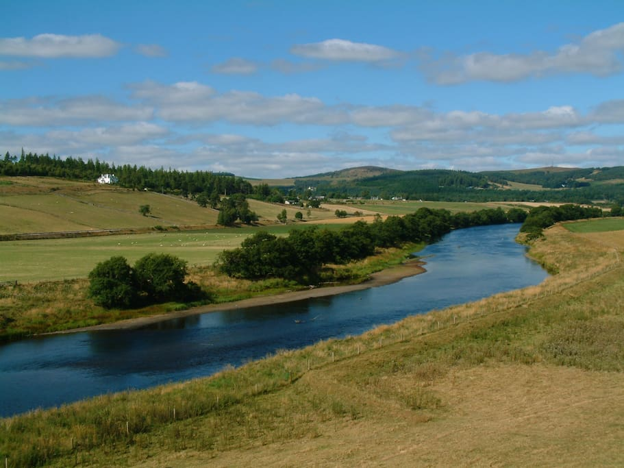 Looking at Auchendean over the River spey