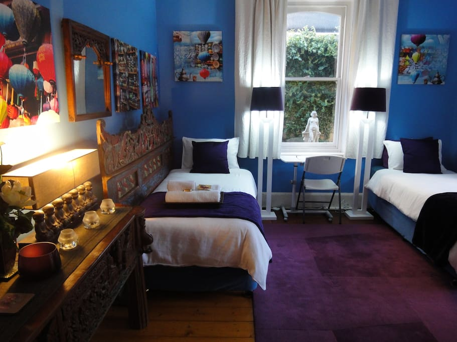 If Required the Blue Room can also be made into a Twin Bed Arrangement for those who are friends travelling together.