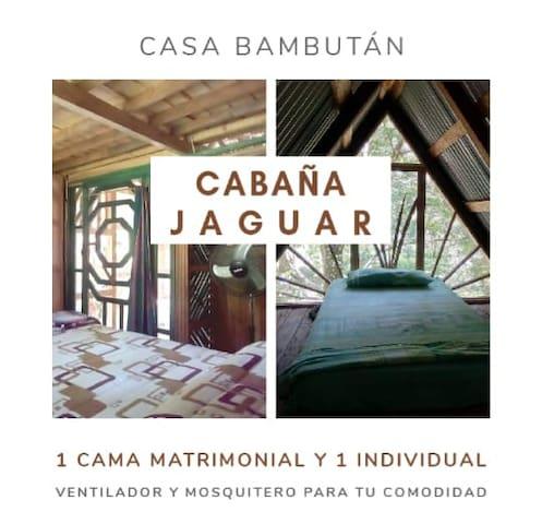 """CABAÑA RÚSTICA """"JAGUAR"""" - CASA BAMBUTÁN"""