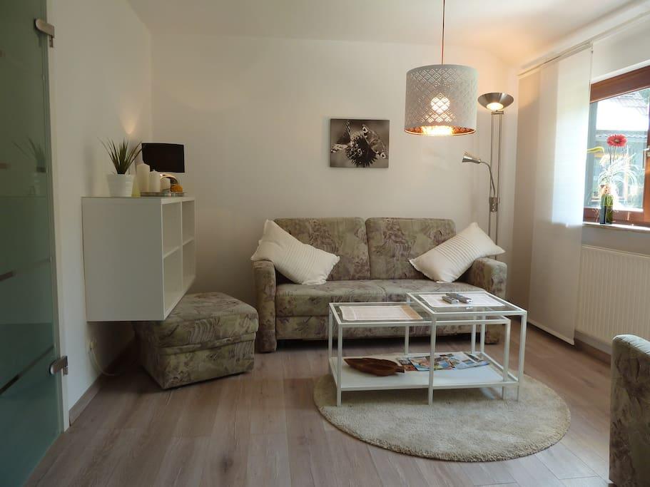 Das neu gestaltete Wohnzimmer