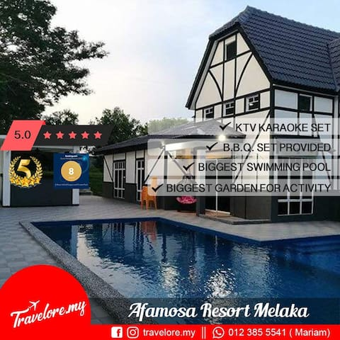 50%OFF! @Famosa. Privacy Pool. BBQ. WiFi.