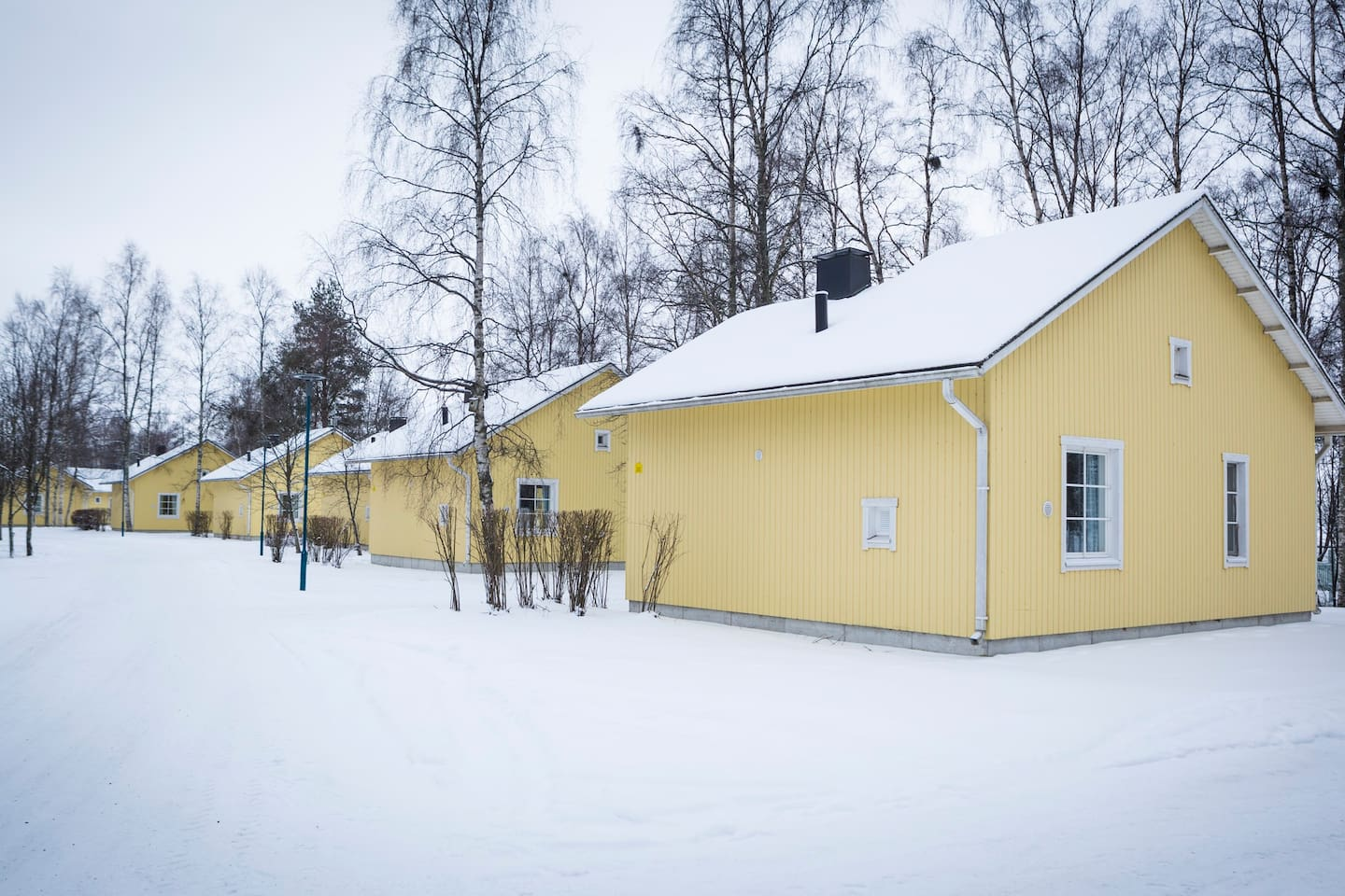 Pooki cottages in winter