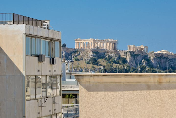 Luxurious suite with Jacuzzi and Acropolis view - Athina - Lägenhet