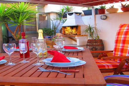 Penthouse Terrace & Grill, BCN Airport 5 km - Viladecans - Appartement