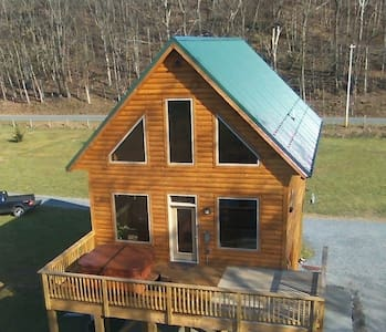 Brand New River Front Log Cabin - Luray - Chatka