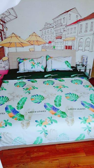 芭蕉树下大床房
