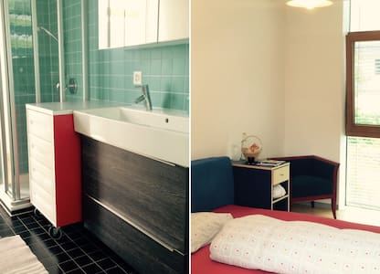Guestroom & private bathroom near Basel+Zurich