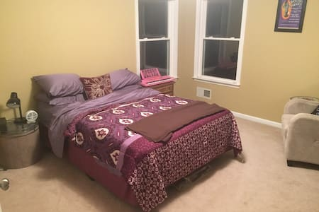 This cozy and comfortable large private bedroom and bathroom in a beautiful new house in quiet, secluded wooded area; yet only 5 minutes from New Jersey Transit train with direct stops to New York City, Newark, and many other locations.  Free onsite parking included. You'll love & enjoy this spacious paradise!