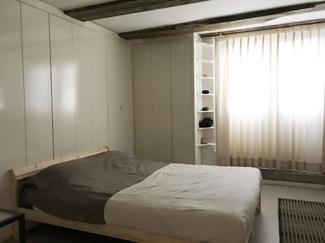 Room on a cosy apartment on the Oudeschans