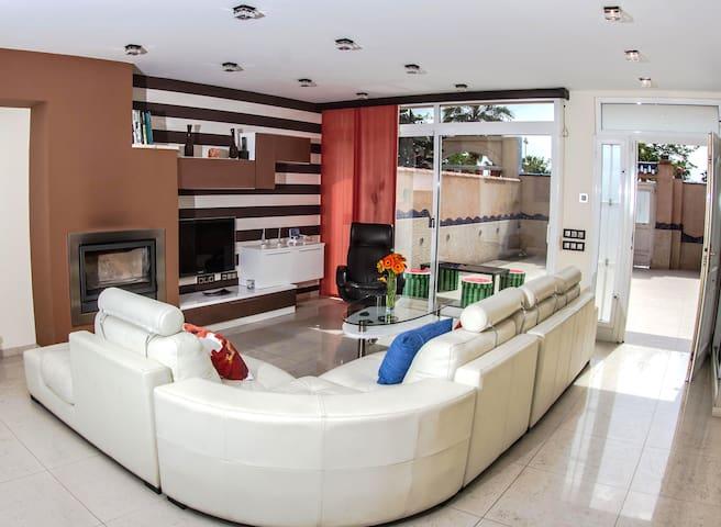 Villa Luz: luxury house front beach private pool - València - Dom