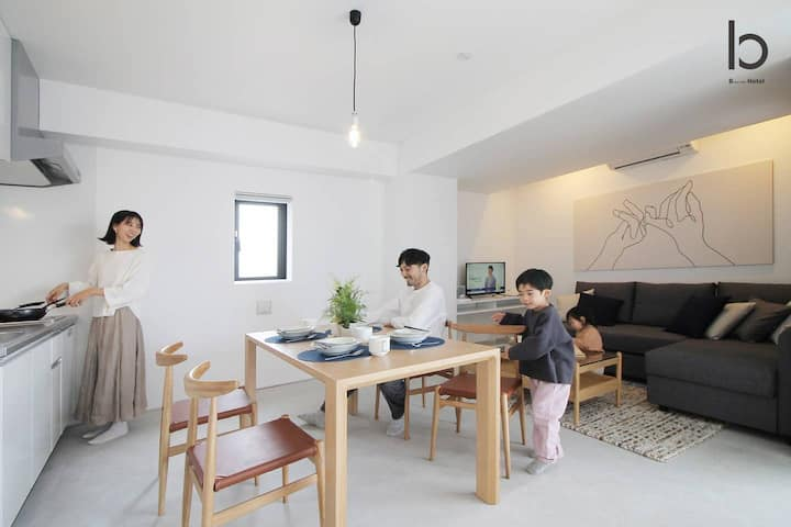 bhotel601 New Apt in Famous Hiroshima Dori for 6p