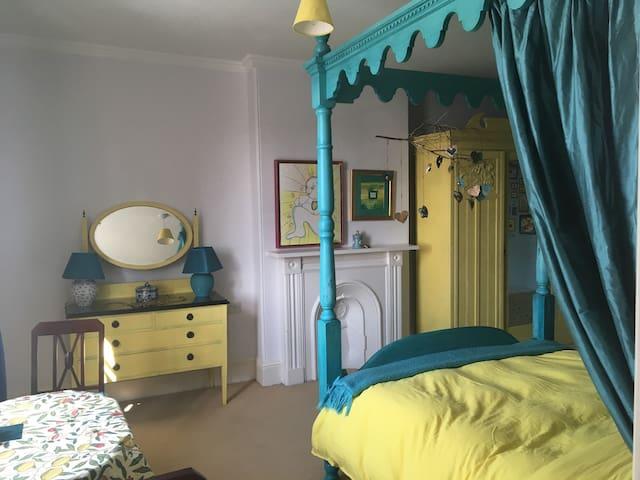 The Sea-Green bedroom