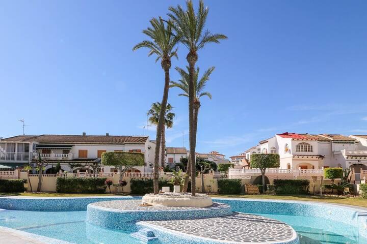 Nice Parque Mar1, sunny Terace,2 pools,200m Beach