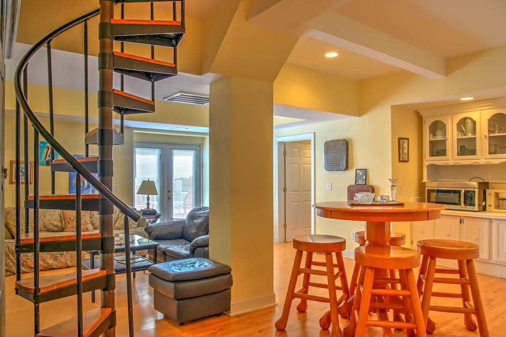 This downstairs unit boasts 1,000 square feet of comfortable living space.