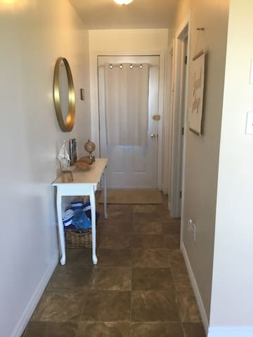 Entrance and front hallway