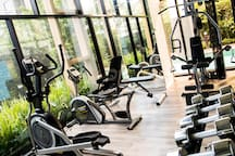 The gym with brand-new equipments