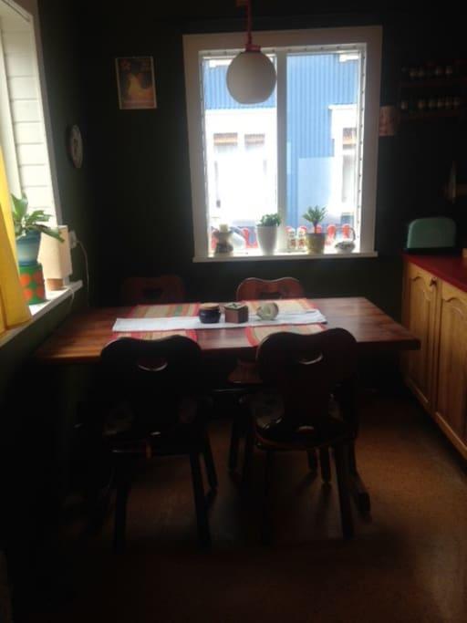 Kitchen nook.