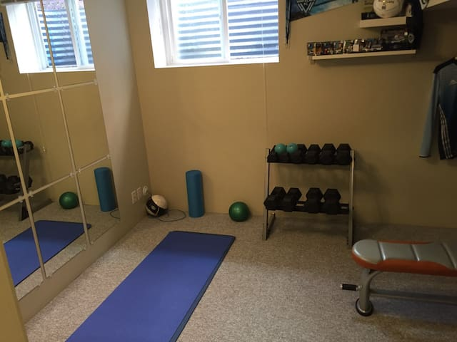 Workout space available for your use