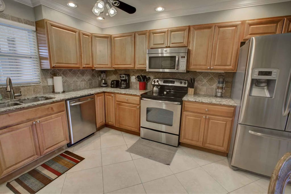 Plenty of room for more than 1 cook with all the amenities needed for meal prep