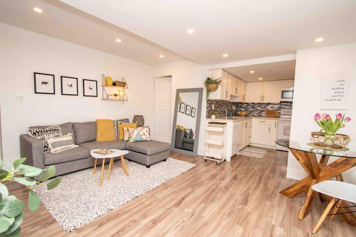 Living area + kitchen
