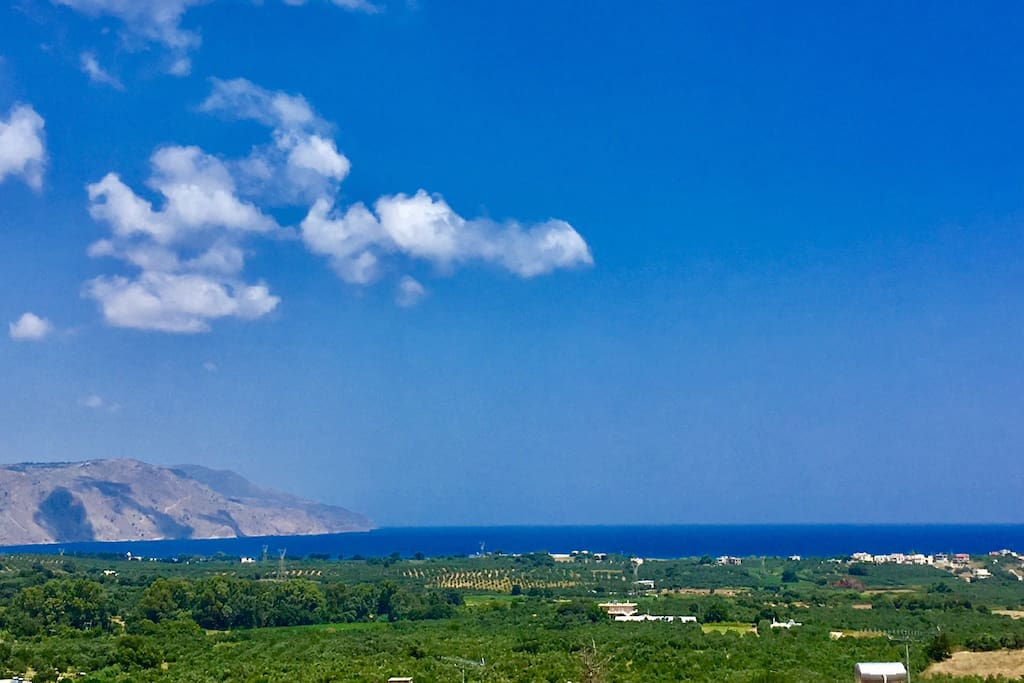 Panoramic view to the Mediterranean