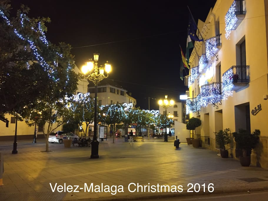 Velez-Malaga Town Centre at Christmas