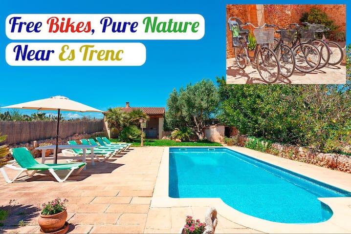 Maison classique de Majorque avec beau jardin