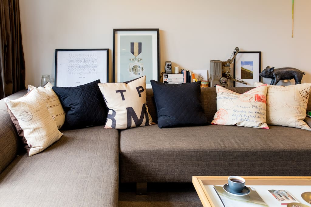 The shared open plan living space.