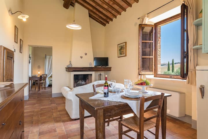 farmhouse with heated pool- Crete Senesi area