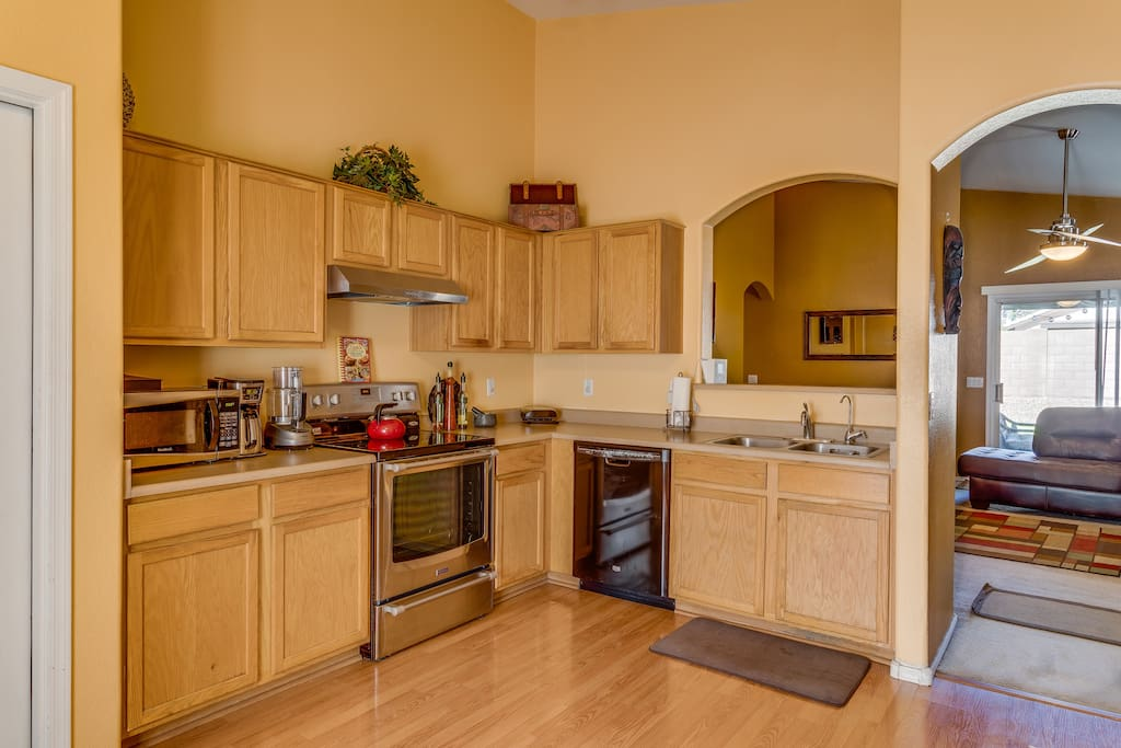 All new appliances--Dishes, Pots and Pans are available!