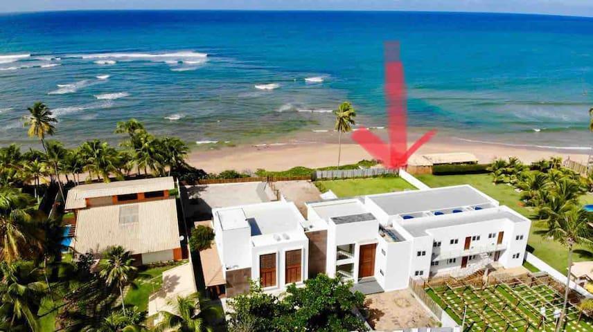 Pé na areia itacimrim Barraca Paperi e Bali Bahia