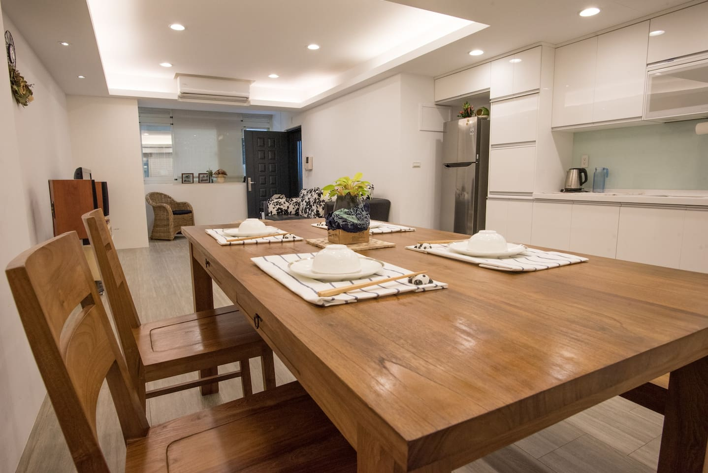 Large dining or working teak table.