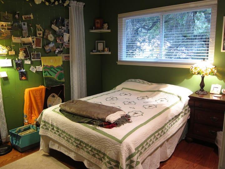 Bedroom dedicated to travel dreams