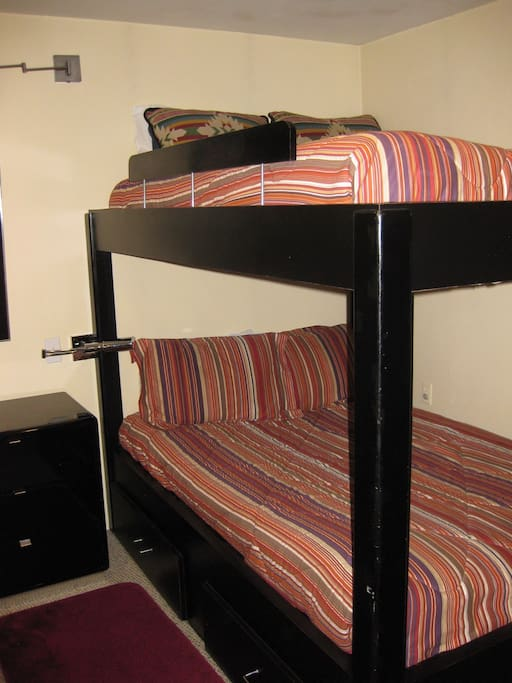 Double bed bunk beds, 2nd bdrm