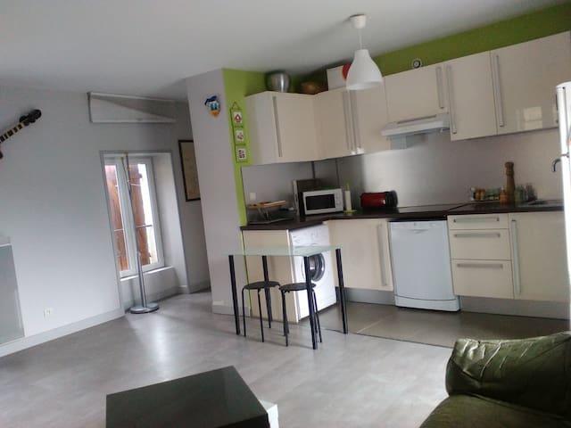 Appartement T1 mi-ville mi-campagne - L'Arbresle - 公寓