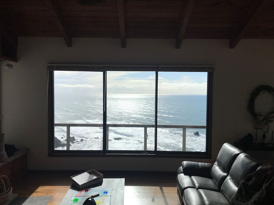 Your oceanfront view from the living room.