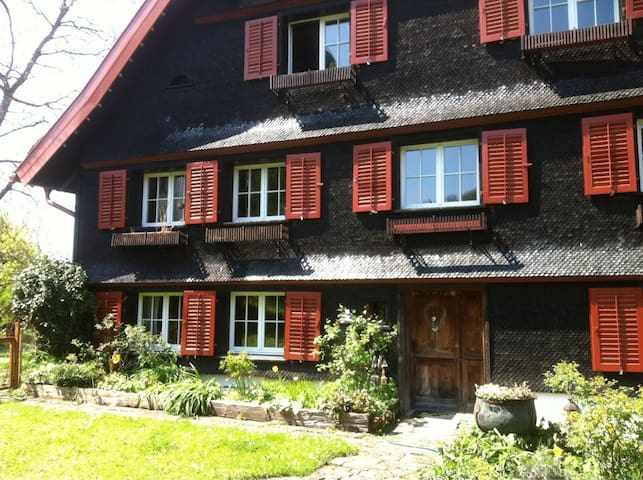 Gemütliche Ferien-Wohnung in 370 Jahre-altem Haus - Bildstein - Apartment