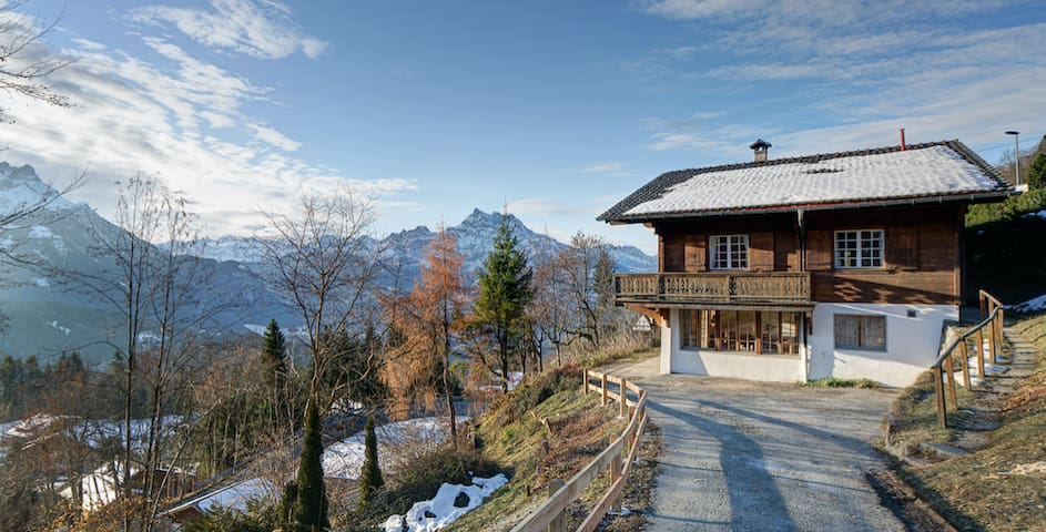 Side view of Chalet