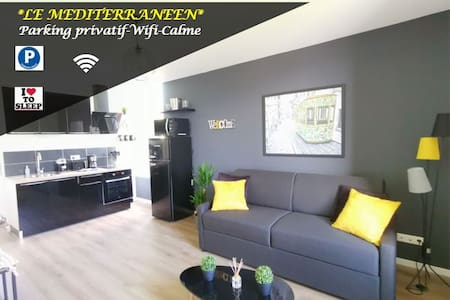 LE MEDITERRANEEN *T2 (40m²) *WIFI*PARKING PRIVE*