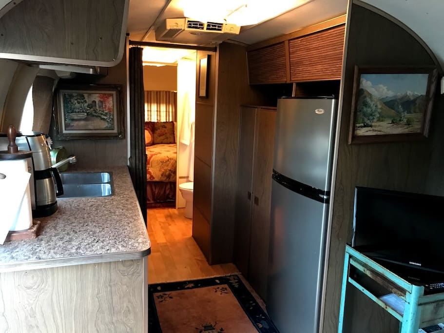The Airstream Interior all the comforts of home