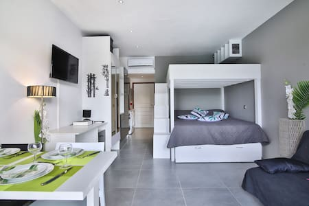 BAMBOU:Pool view+beach access+outstanding location - Marigot - Apartamento