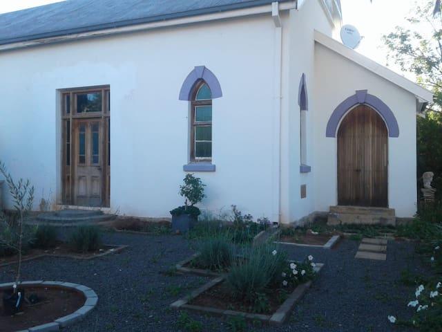 Church exterior and garden