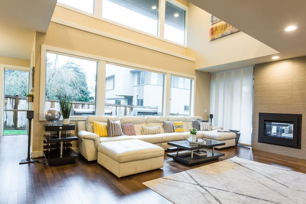 Open concept living area. Great for entertaining or being together as a family.