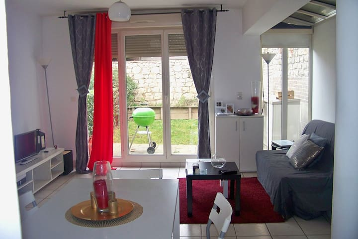 Studio cosy avec jardin près de la gare TGV - Mantes-la-Jolie - Apartamento