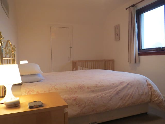 Bedroom2.  Double, cot and...