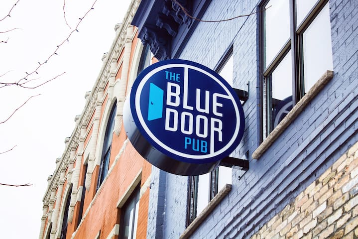 Lyn-Lake Loft is hosted by the Blue Door Pub!