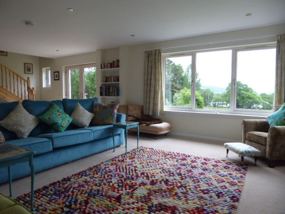 The living room has a lovely view towards Loch Linnhe