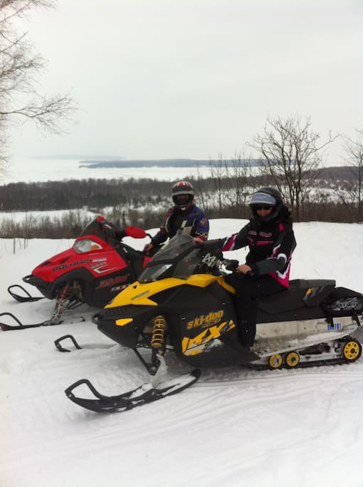 Snowmobile the Bruce Peninsula