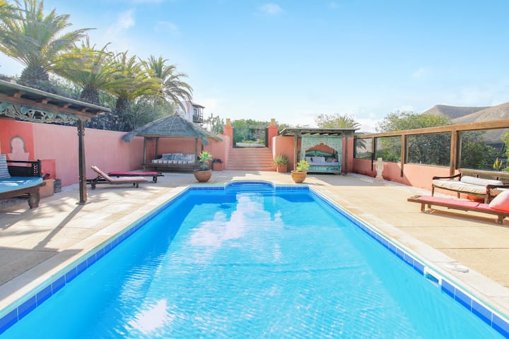 Charming Holiday Home La Troja with Wi-Fi, Balcony, Terrace & Shared Pool